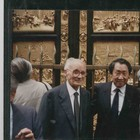 Mr. Motoyama and Mr. Marinelli at the inauguration of the Replica - 1990